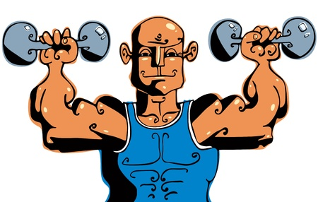 Bodybuilder. Vector