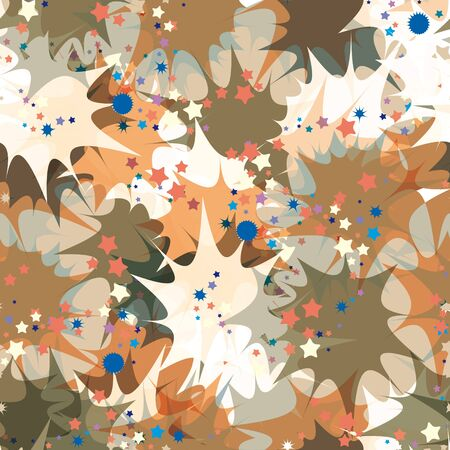 Petard exploding seamless pattern. Vector