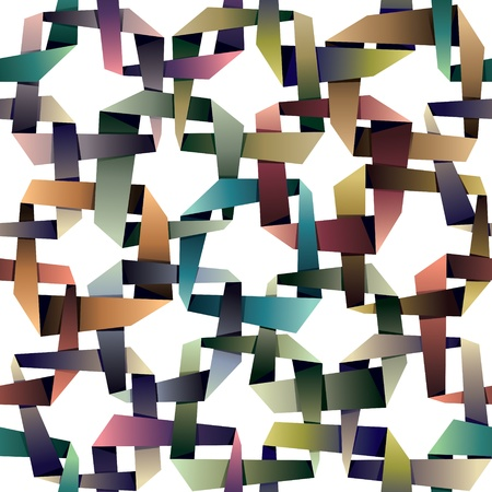 geometric pattern in a square: Origami style seamless pattern, multicolored.