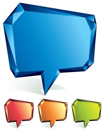 Crystal speech bubble. Stock Vector - 11594662