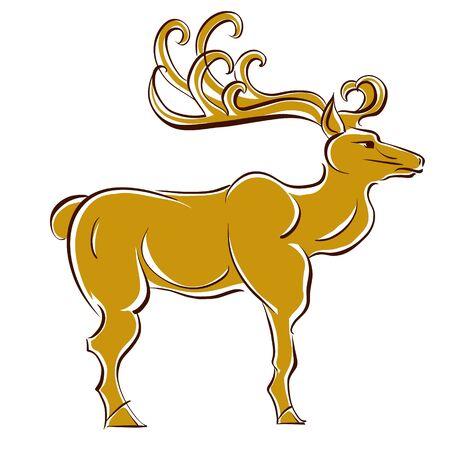 northpole: Deer vector illustratie.