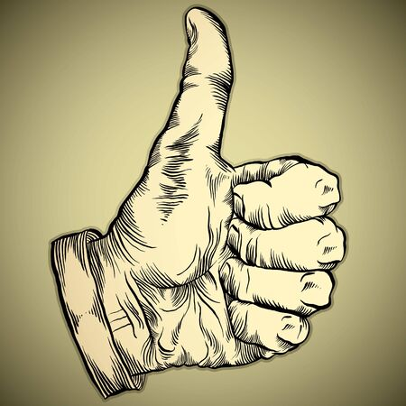 Thumb up like hand symbol. Vector icon. Vector