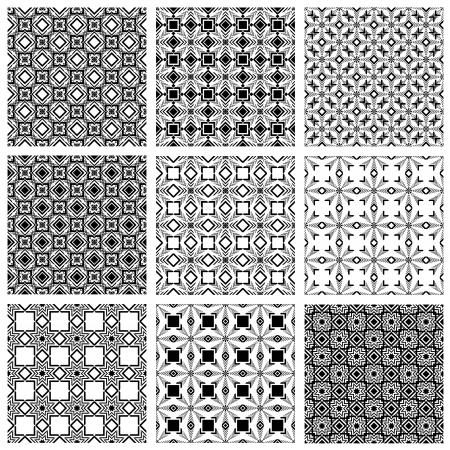 Seamless patterns, vector backgrounds. Illustration