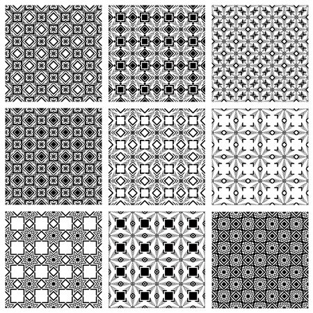 Seamless patterns, vector backgrounds. Vector