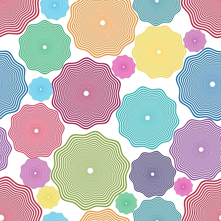 Abstract seamless pattern, vector wallpaper background. Stock Vector - 13790627