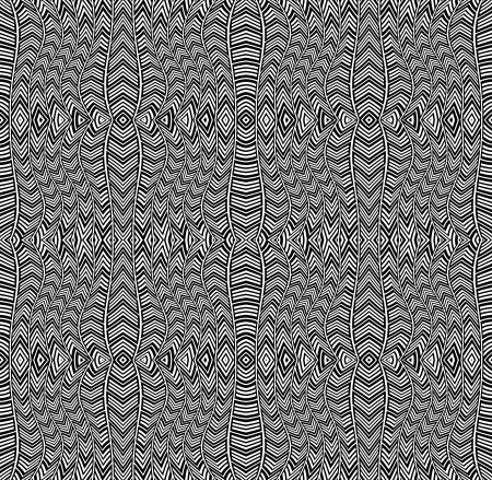Black and white lines seamless pattern. Vector