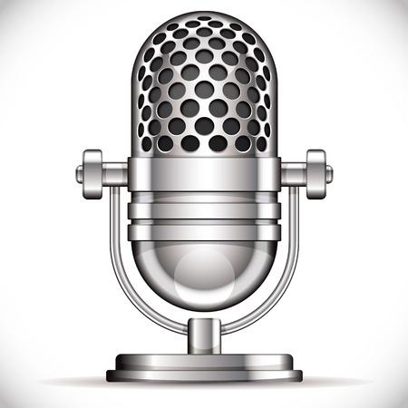 microfono antiguo: Micr�fono retro ilustraci�n vectorial Vectores