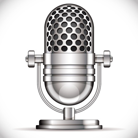 radio microphone: Retro microphone vector illustration