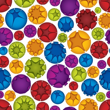Spheres seamless pattern, vector background Stock Vector - 15272282