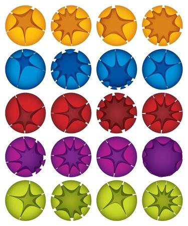 Creative spheres vector icons set  Vector