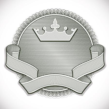 style: Money style emblem  Illustration