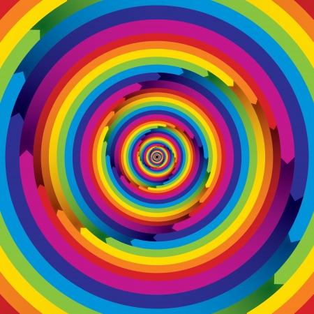 spiral: Abstracte achtergrond met oneindige pijlen kleur