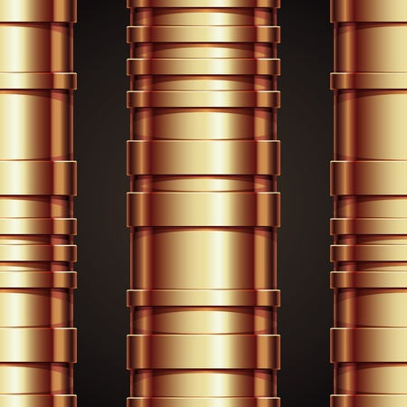 Copper pipeline seamless pattern. Vector