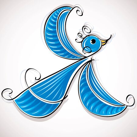 Blue bird vector illustration Stock Vector - 15272181