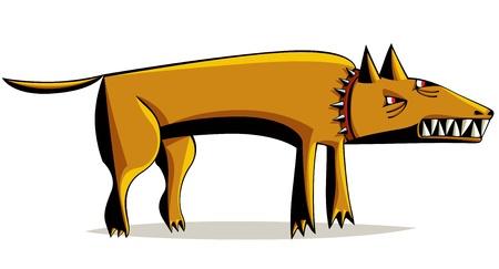 bared teeth: Angry dog with bared teeth.
