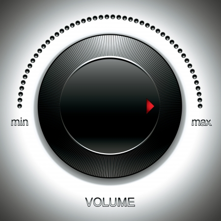 Big black volume knob. Vector