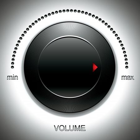 electronic music: Grande manopola del volume nero. Vettoriali