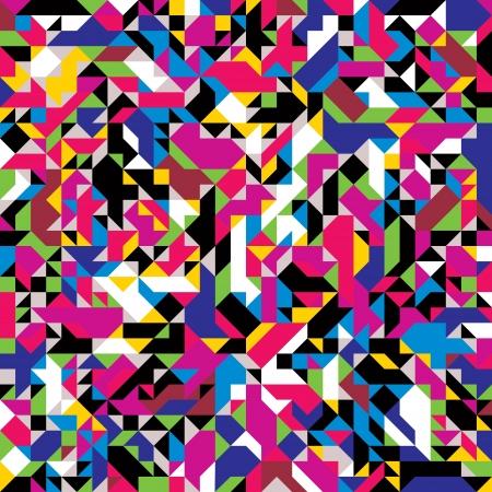 geometricos: Patrón sin fisuras con elementos coloridos.