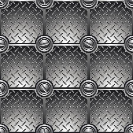 Плиточный металлический фон связан с винтами