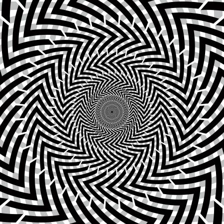 effet: Illusion d'optique de mouvement Illustration