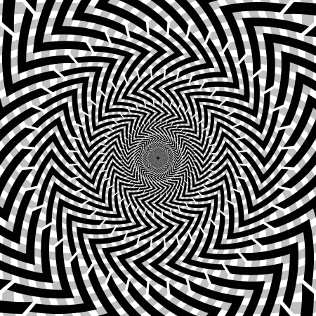 Optical illusion of motion  Vector