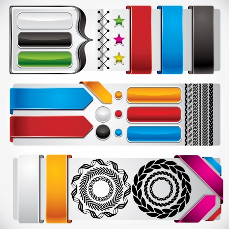 Set of web design elements  Stock Vector - 15272290