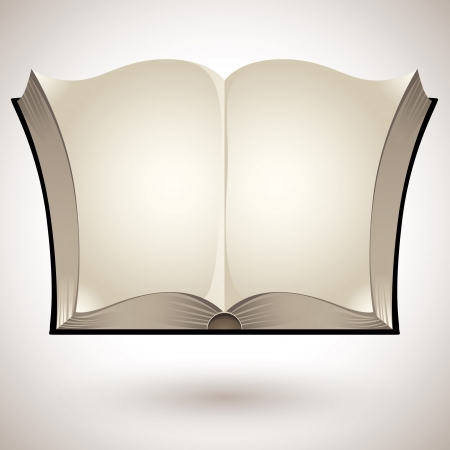 leeres buch: Offenes Buch mit leeren Seiten