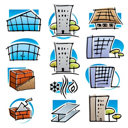 Real estate and construction icons set. Stock Vector - 15272296