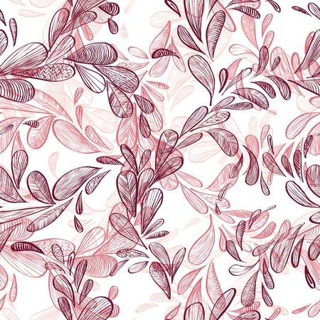 Floral background, seamless pattern. Ilustração