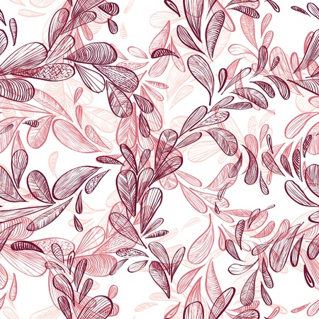 Floral background, seamless pattern. Vector