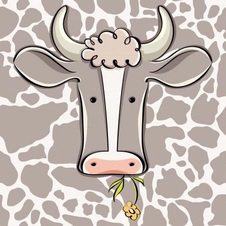 Cow head vector cartoon.