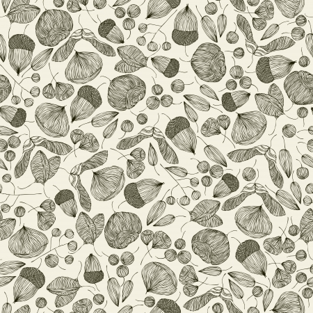 Seeds seamless pattern. Vector