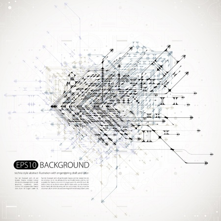 abstract background with techno style.