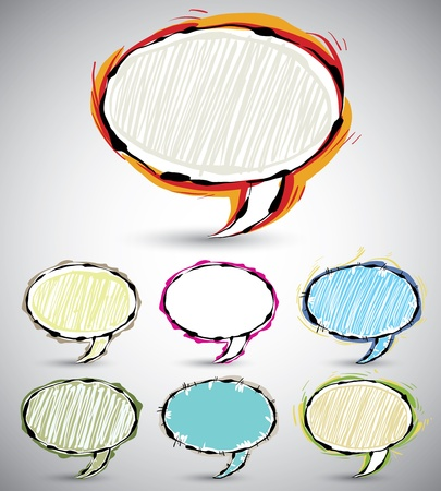 joyfull: Abstract sketch style speech bubbles 2.