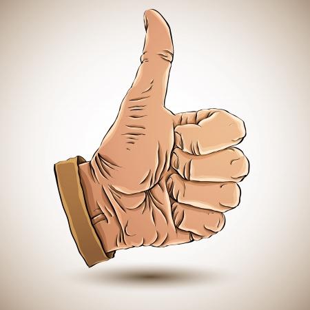 great job: Thumb up like hand symbol