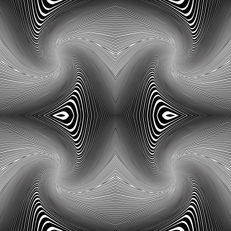 Twisted lines  background.  Vector