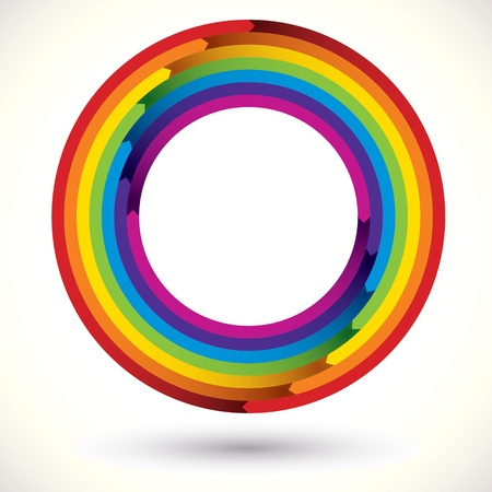 Rainbow icon. Vector