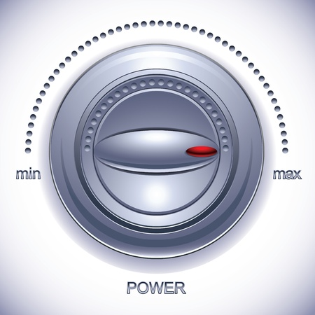 calibration: Potenza manopola di calibrazione Vettoriali