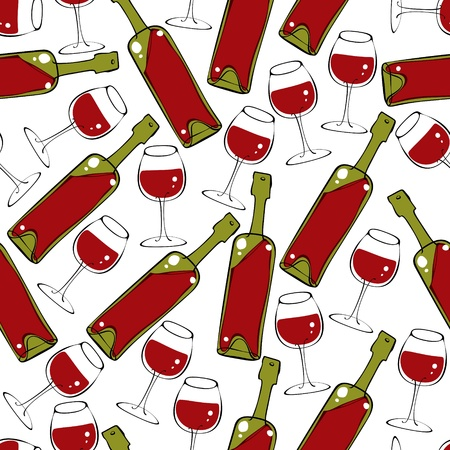 Wine seamless pattern