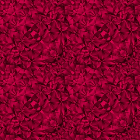 Ruby gem texture seamless pattern. Vector