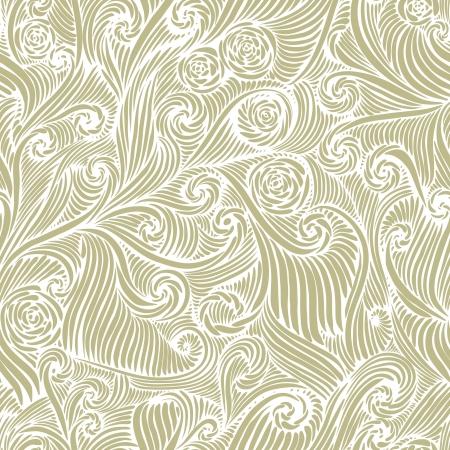 antiek behang: Naadloos patroon, vintage stijl achtergrond Stock Illustratie
