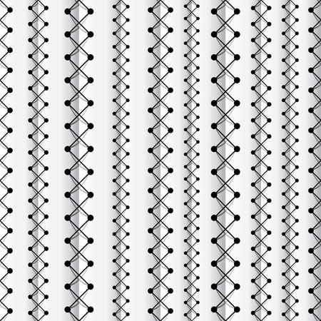 Seams seamless pattern Vector