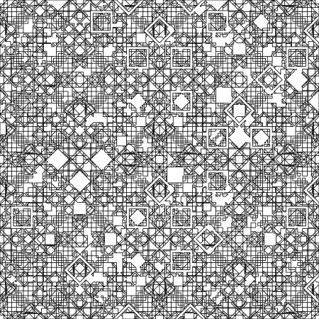 Seamless geometric pattern with black lines  Vector