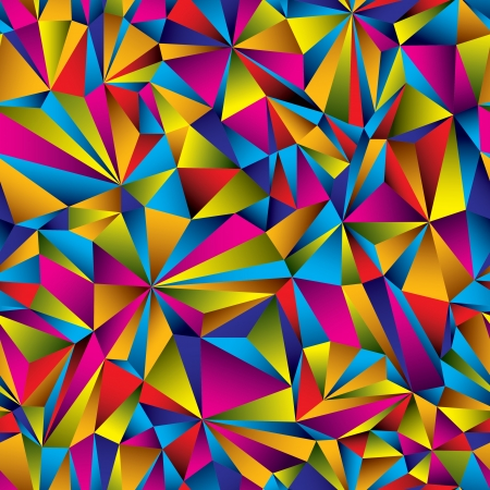 Colorful geometric surface seamless pattern.