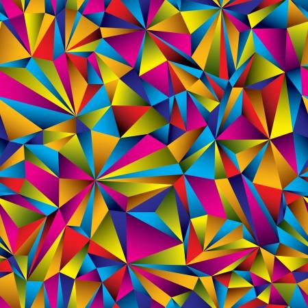 Colorful geometric surface seamless pattern.