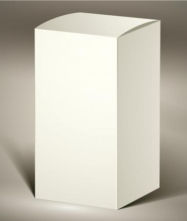 product box: Confezione per la progettazione o prodotto visualizzazione, verticale.