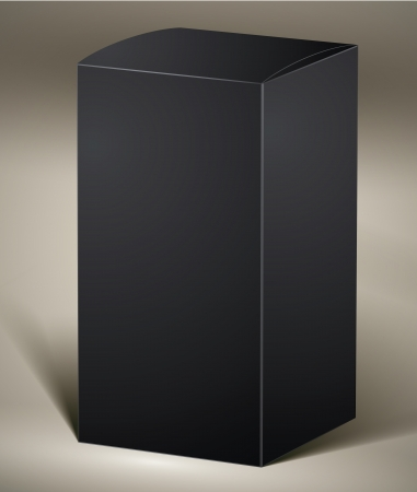 product box: Black pack for design or product visualizing.