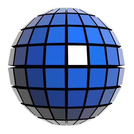 Global sphere design  Vector