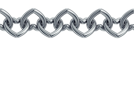 Chain with heart shaped links  Stock Photo - 15275113