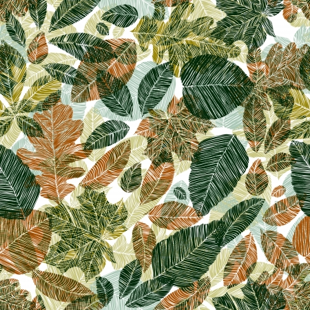 marple: Floral background with different leaves  Stock Photo